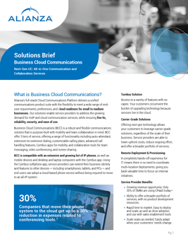 Alianza Business Cloud Communications - Solution Brief Pic