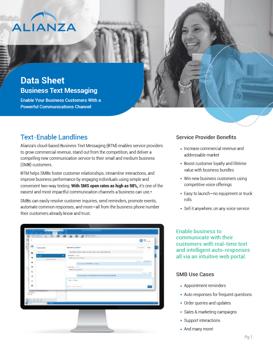 Alianza Business Text Messaging Data Sheet Pic New